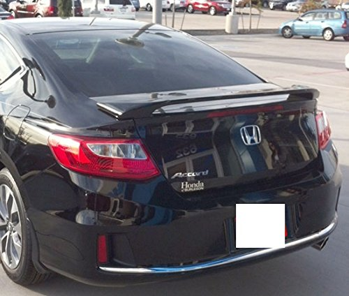 Honda Accord 2DR Coupe 2013-2015 Rear Bolt On Style Trunk Spoiler Color Match Painted