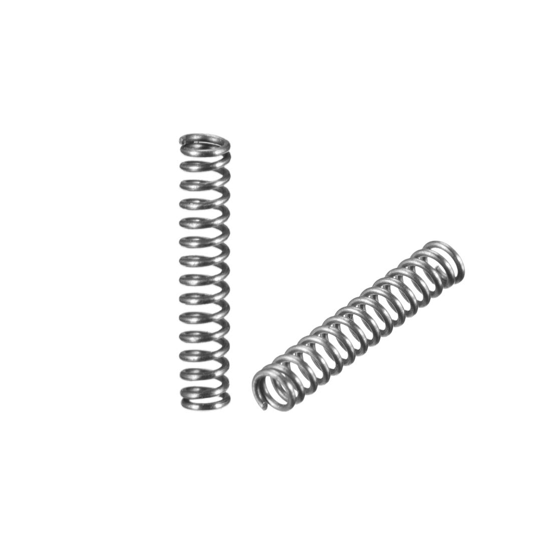 sourcing map 0.3X3x15mm acciaio inossidabile bobina estesa molla compressa 30pz