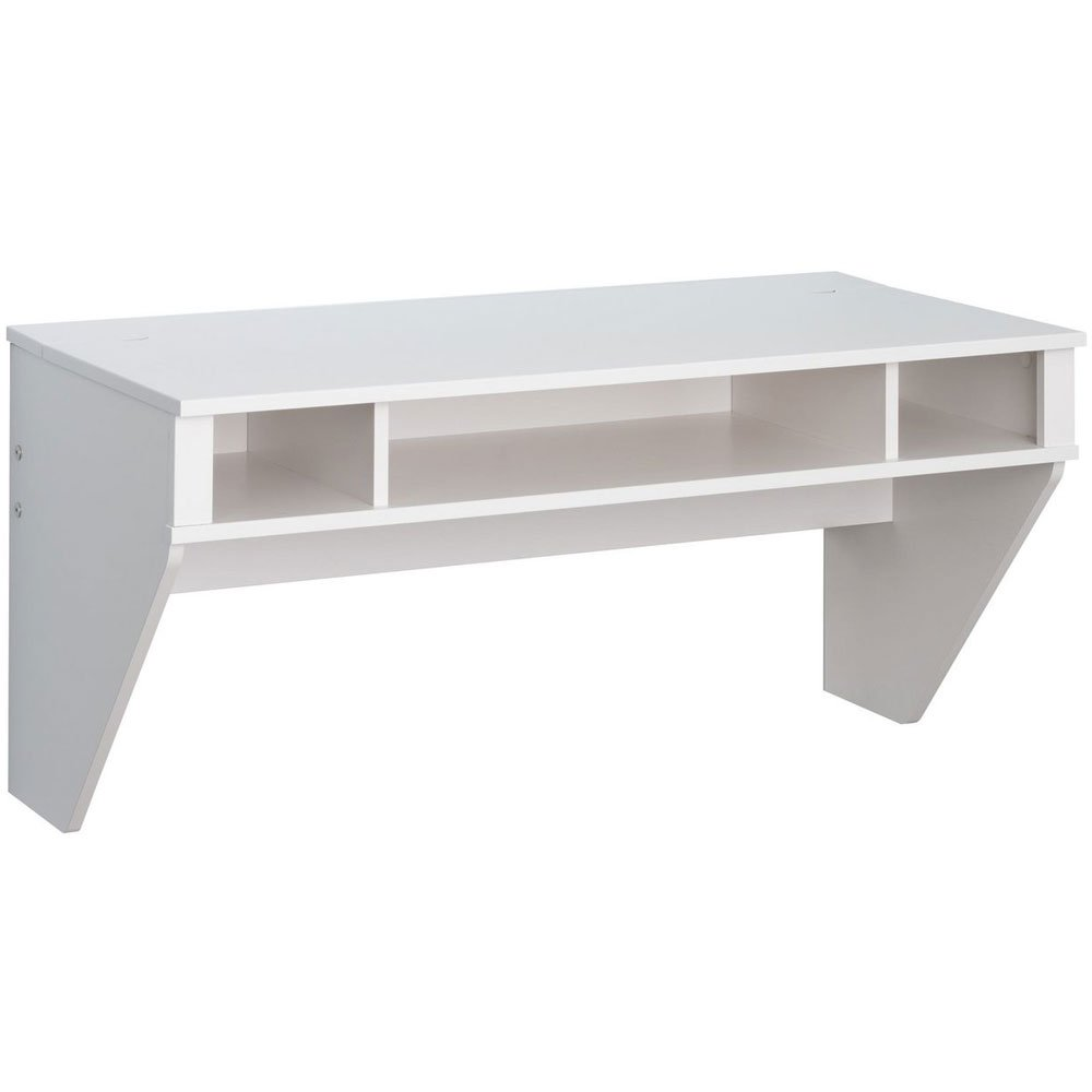 MD Group Floating Wall Desk, 42.5'' x 20.5'' x 21'' x 65 lbs, White