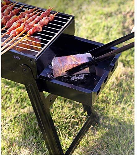 BBQ Grill, RVS Barbecue Grill Roker Houtskool Bbq, Vouwen Draagbare BBQ Voor 5-10 Personen Familie Tuin Buiten Koken Wandelen Picnics Camping Barbecue Party