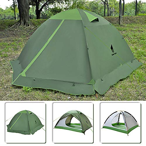 GEERTOP 3 Person Camping Tent 4 Season Backpacking Tent for Outdoor Survival - Free Standing Tent