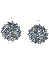 """Kenneth Cole New York""""Woven"""" Woven Faceted Bead Round Drop Earrings"""