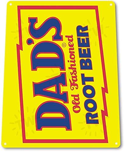 (TIN Sign B347 Dads Root Beer Soda Cola Retro Beverage Drink Root Beer Sign Tin Sign 7.8inch11.8inch)