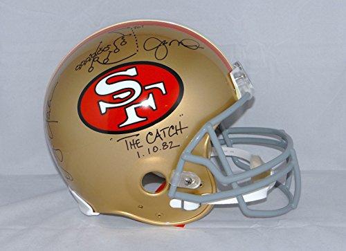 Joe Montana Dwight Clark Autographed F/S San Francisco 49ers ProLine Helmet- (Joe Montana Football Jersey)