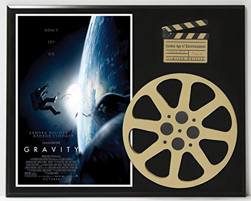 GRAVITY WITH SANDRA BULLOCK GEORGE CLOONEY LTD EDITION MOVIE REEL DISPLAY