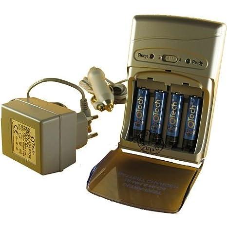 Cargador Ultra rápido Accu/pila AA/LR6 y AAA/LR3 + 4 pilas ...