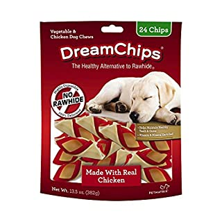 DreamBone DBC-02398 DreamChips With Real Chicken 24 Count, Rawhide-Free Chews For Dogs