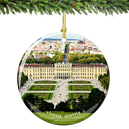City-Souvenirs Vienna Austria Christmas Ornament 2.75 Inch Double Sided Porcelain Austrian Christmas Ornaments
