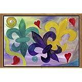 Mardi Gras Art Fleur De Lis Area Rug (24 x 36)