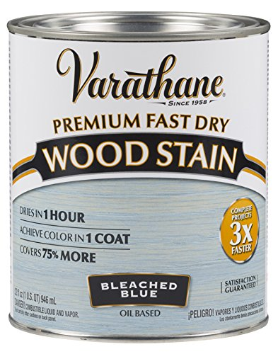 Varathane 297425 Premium Fast Dry Wood Stain, 32 oz, Bleached Blue