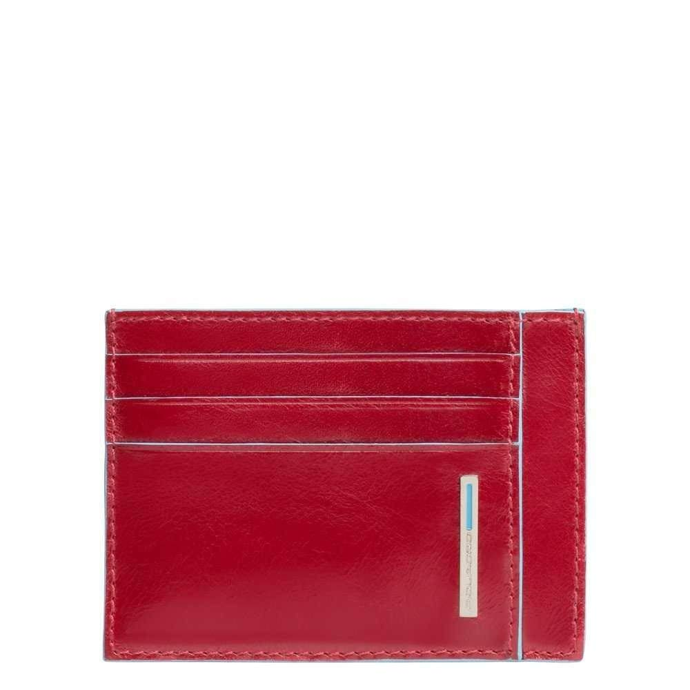 Piquadro Blue Square Credit Card Case, 0.27 liters, Red (Rosso)
