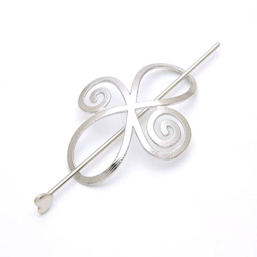 Fermacapelli, forcina a forma di fiore annodato per coda di cavallo DAEDALUS