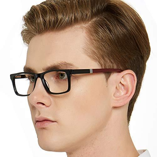 5c45fd1076 OCCI CHIARI Optical Eyewear Non-prescription Fashion Glasses Eyeglasses  Frame with Clear Lenses for Men Blue Light Blocking