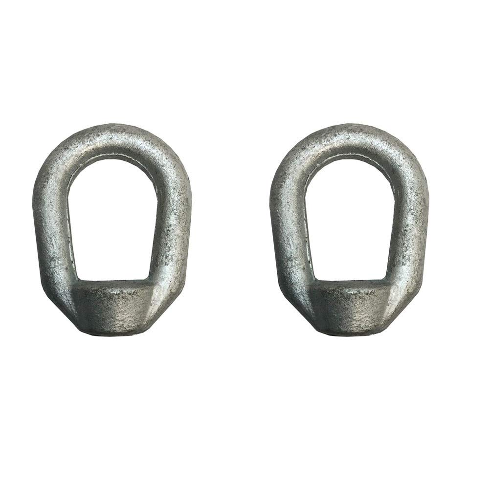 10 PC Eye Nut 3//8 Bail 1//2 Tap Thread Galvanized Drop Forged Carbon Steel
