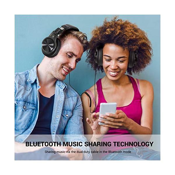 Casque Bluetooth 50 Heures d'Autonomie OneOdio A70 Casque Audio Sans Fil avec Microphone Antibruit CVC 8.0, Casque…