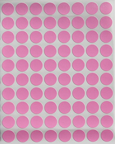 "Color Coding Labels 1/2"" Round - Dot Stickers -- Half inch rounds PINK sticker -- 1200 pack"