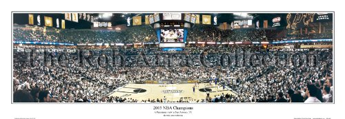 San Antonio Spurs ''2005 NBA Champions'' - 13.5''x39'' Standard Black Frame by Everlasting Images