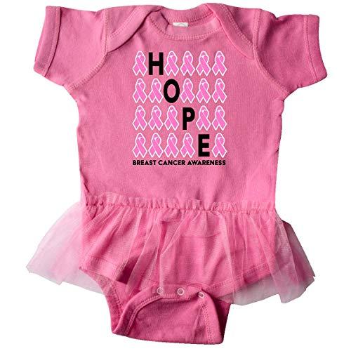 inktastic - Hope- Breast Cancer Infant Tutu Bodysuit 12 Months Raspberry ()