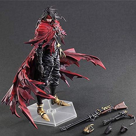 BINGFENG Action-Figur-Play Arts Final Fantasy 7 H/öllenhund Vincent Kinder Spielzeug Modell Anime Souvenirs//Sammeln//Handwerk Spielzeug Statue Dekoration 28CM
