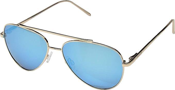 3dba6f644d Amazon.com  Steve Madden Women s Polarized Lynn Gold Frame Blue Lens ...