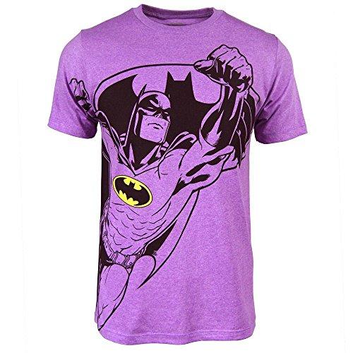 Bioworld Batman Mens Neon Purple Heather Tee (Medium) ()