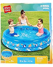 Play Day 3 Ring Inflatable Pool (Sea Theme)