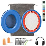 Replacement Beats Studio 2 Beats Studio 3 Wireless Ear Cushions Pads Muffs for Over Ear Headphones Wireless B0501 Wired B0500 (Not Compatible Any Other Models !!!) - Blue
