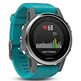 Garmin Fenix 5S-Silver/Turquoise Band Regular Glass