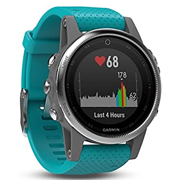 Garmin Fenix 5S Silver with Turquoise Band