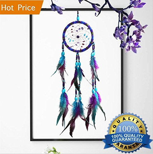 "Dream Catchers Purple Handmade Wall Hanging Home Decoration 4.3"" Diameter 21.6"" Long"