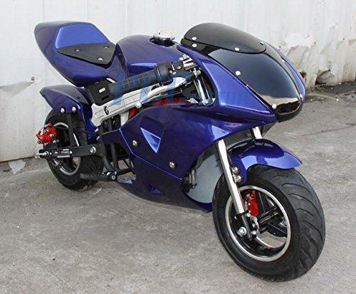40cc 4-Stroke Motorized Pocket Bike (Blue) -
