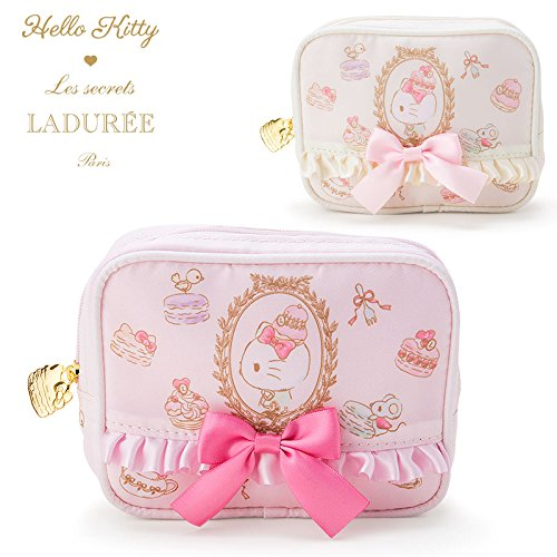Funny Costumes For Asian People (Sanrio Hello Kitty × Sucre, Ladurée tissue pouch ivory From Japan New)