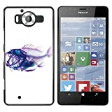 Plastic Shell Protective Case Cover || NOKIA Lumia 950 || Xray Fish Skeleton Art @XPTECH