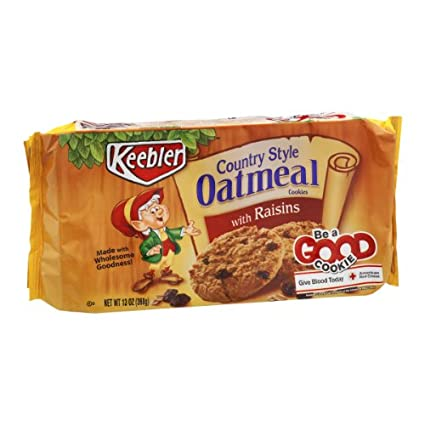 Keebler Country Style Oatmeal con Raisin Cookies: Amazon.com ...