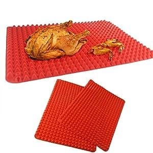 bestnice alfombrilla de grill (antiadherente, fácil de limpiar, alfombrillas de barbacoa parrilla resistente de barbacoa horneado alfombrillas para ratón