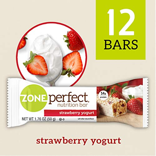 ZonePerfect Nutrition Snack Bars, Strawberry Yogurt, 1.76 oz, (12 Count) - Nut Natural Be Bars