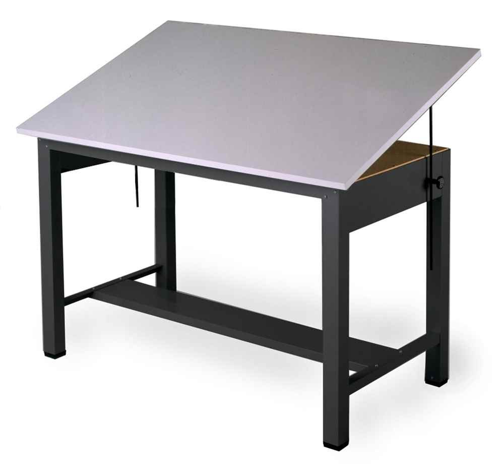 Economy Ranger Four Post Table in Black (Small)