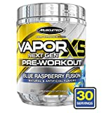 MuscleTech Vapor X5 Next Gen Pre Workout Powder, Explosive Energy Supplement, Blue Raspberry, 30 Servings (9.6oz)