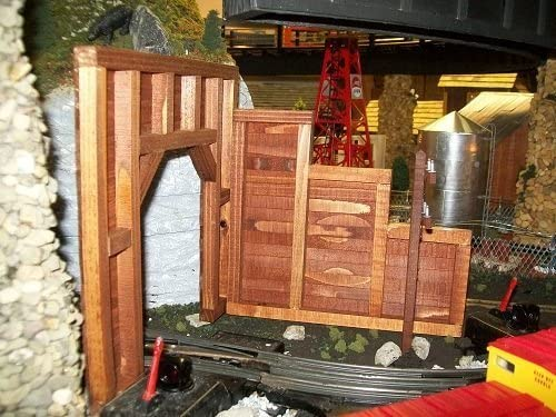 Dechant s Railroad Express Model Railroad O Scale Timber Frame Retaining Wall- Set of 2