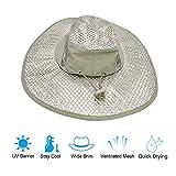 Yingyi Sunscreen Cooling HatProtection Cooling Cap Wide Brim Summer Sun Hat with Anti UV Featurefor Men Women Hot Weather Gardening Yard Beach Outdoor Planing Hiking FishingCamping