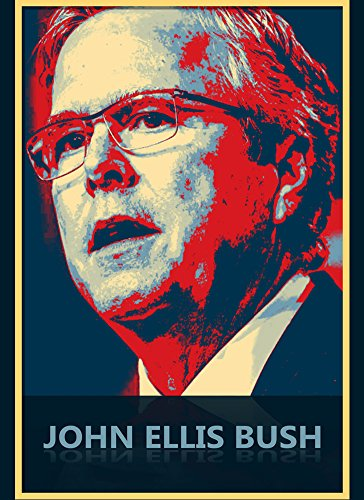 Rectangle Refrigerator Magnet - JEB - Presidential Candidate Design (Rectangle Magnet Republican)