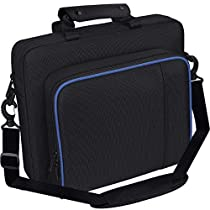taessv Carrying Case for PS4, Hard Multifunctional Travel Carry Case Carrying Bag for PlayStation4 PS4 Black