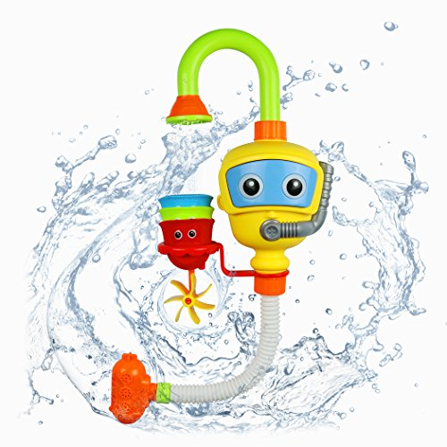 Fondear Colorful Bath Toy / Cute Water Spray Toy / Submarine Spray Station Toy for Toddlers - BPA Free and No Battery Needed (Scuba Buddy)