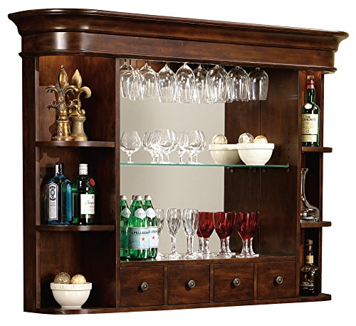 Mirrored Back Cherry - Howard Miller 693-007 Niagara Bar Hutch by