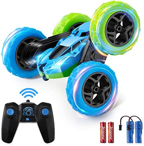 Remote Control Stunt Car Rechargeable RC Car, 360°Rotating Double Sided Flips four wheel drive Remote Control Car Electric Race Stunt Toy Car 2.4Ghz Off-Road Racing Vehicles for Kids Boys Girls Birthday
