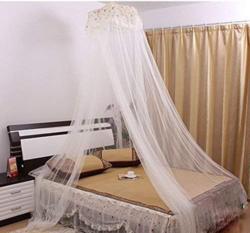 RuiHome Twin Full Queen Bed Hanging Mosquito Net Dome Lace Canopy Insect Netting with Hook Screw - - 1200 Bunk