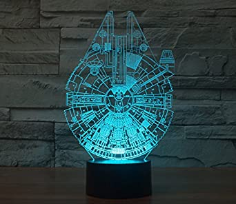 Wars Lumière Millennium Table Falcon Interrupteur Star Lampe De 5qR4AjLc3