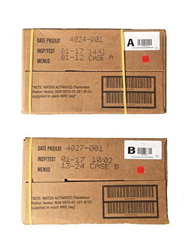 2017 Inspection US Military MRE A and B Case by 2017 Inspection date MILITARY MRE CASE A and B