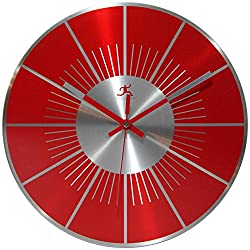 Infinity Instruments Red L.P. 12 Metal Wall Clock