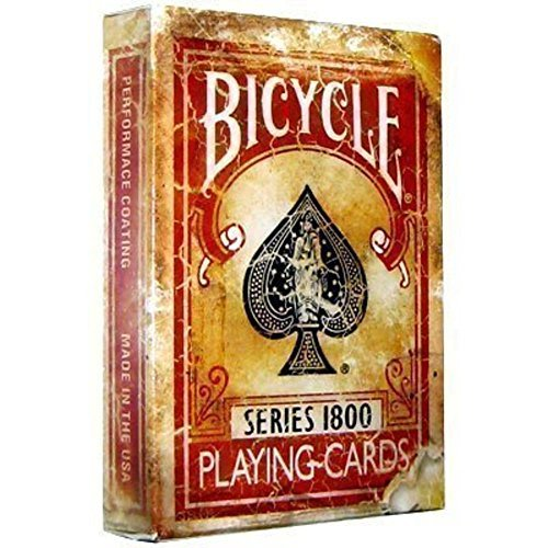 Bicycle 1800 Vintage Series Playing Cards by Ellusionist (Red) by Bicycle